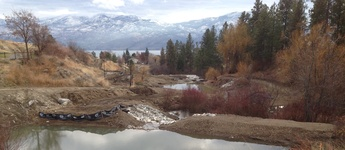 Three ponds constructed with engineered fill