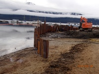 """Coffer Dam to extend """"on shore"""" construction - 2015"""